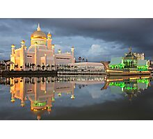 Mosque  Sultan Omar Ali Saifuddin in Brunei Photographic Print