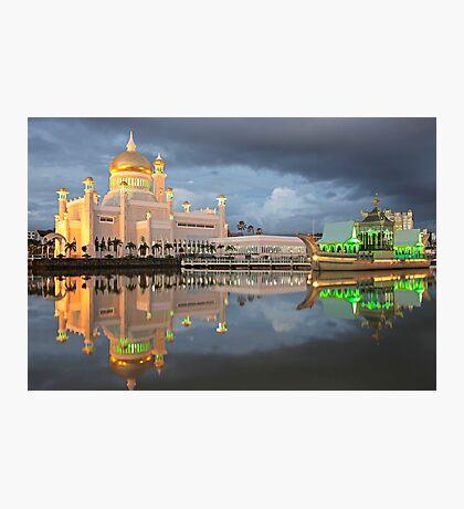 Mosque  Sultan Omar Ali Saifuddin in Brunei Photographic Print