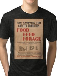 United States Department of Agriculture Poster 0064 Greater Production Food Feed Forage Tri-blend T-Shirt