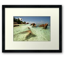 Seychelles La Digue Framed Print