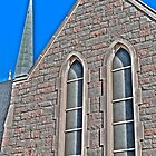 HDR - SSLC - Stone Facade and Steeple by Doug Greenwald