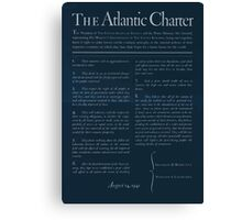 United States Department of Agriculture Poster 0166 The Atlantic Charter Franklin Delano Roosevelt Winston Churchill August 14 1941 Inverted Canvas Print
