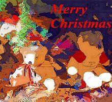 Christmas tree teddies by ♥⊱ B. Randi Bailey