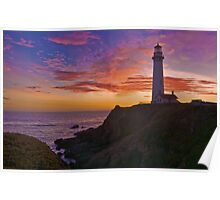Sunset at Pigeon Point Poster