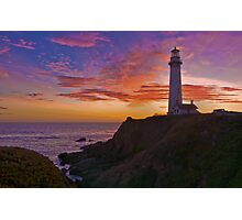 Sunset at Pigeon Point Photographic Print