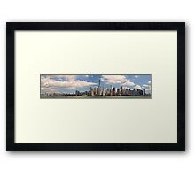 City - NY - The colors of a city Framed Print