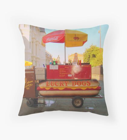 New Orleans Lucky Dogs Throw Pillow