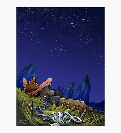 Under the Meteor Shower Photographic Print