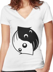 Tao of the Squid - Basic Women's Fitted V-Neck T-Shirt