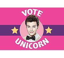 Kurt Hummel Vote Unicorn Photographic Print