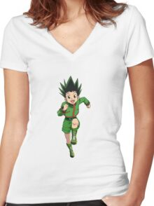 Hunter x Hunter - Gon Freecs Women's Fitted V-Neck T-Shirt