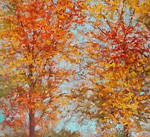 Last of fall colors by Julia Lesnichy