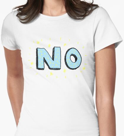 NO Womens Fitted T-Shirt