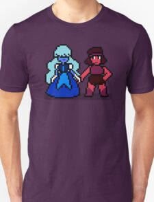 Pixel Ruby & Sapphire Unisex T-Shirt