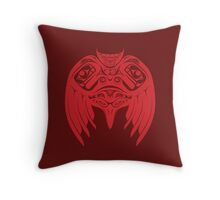 Raven Crow Pacific Northwest Style Throw Pillow