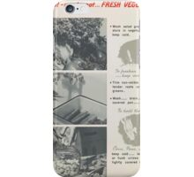 United States Department of Agriculture Poster 0294 Wilt Not Waste Not Fresh Vegetables Fight Food Waste iPhone Case/Skin