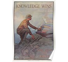 United States Department of Agriculture Poster 0124 Knowledge Wins Public Library Books are Free Poster