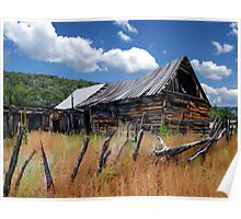 Old Barn, Trampas, New Mexico Poster