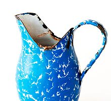 Blue Graniteware Pitcher by Skye Hohmann