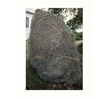 Rune Stone Jellinge Denmark 198406250014  Art Print