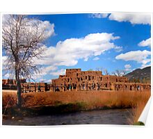 Taos Pueblo, early spring Poster