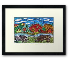 Cow Grazing Framed Print