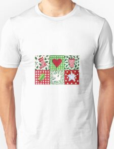 Patchwork Christmas Icons - bright and festive T-Shirt