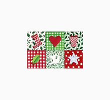 Patchwork Christmas Icons - bright and festive Unisex T-Shirt