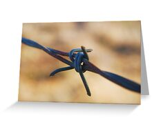 Along the wire Greeting Card