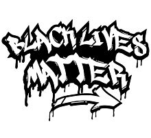 BLACK LIVES MATTER GRAFFITI  Photographic Print