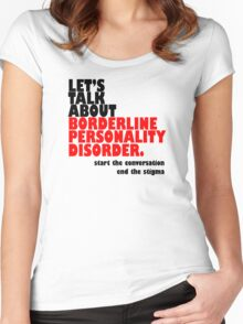 Let's Talk About BPD. Women's Fitted Scoop T-Shirt