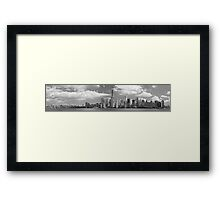 City - NY - The shades of a city Framed Print