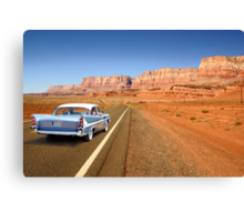 Open Road Cruising  Canvas Print