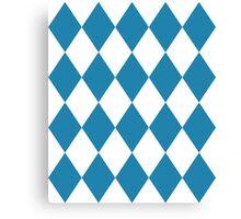 Blue and White Diamonds Canvas Print