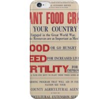 United States Department of Agriculture Poster 0068 Plant Food Crops Food Feed Fertility iPhone Case/Skin