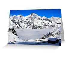 Snowtime in the Austrian Mountains Greeting Card