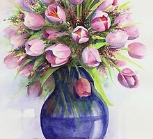 Tulip bouquet by lizblackdowding