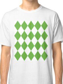 Grass Green and White Diamonds Classic T-Shirt