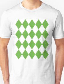 Grass Green and White Diamonds Unisex T-Shirt