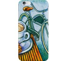 Green Electra Delivery Bicycle Coffee and biscotti iPhone Case/Skin