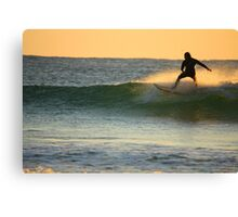 charging at sunrise Canvas Print