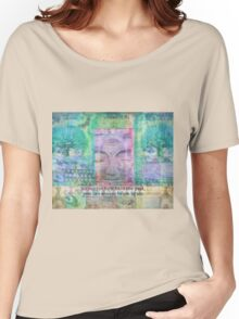 Inspiration Buddha quote about letting go of the past Women's Relaxed Fit T-Shirt