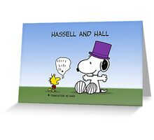 Hassell & Hall: Snoopy & Woodstock Greeting Card