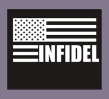 American Infidel (Black) Kids Tee