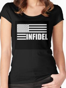 American Infidel (Black) Women's Fitted Scoop T-Shirt