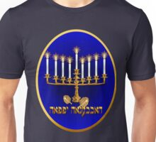 Gold Hanukkah Candles Oval  Unisex T-Shirt