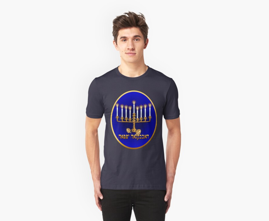Gold Hanukkah Candles Oval  by Lotacats