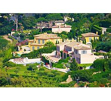 Luxury villas in Saint Tropez, The French Riviera Photographic Print