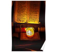 book-keeping by candlelight Poster