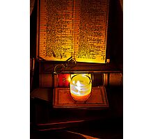 book-keeping by candlelight Photographic Print